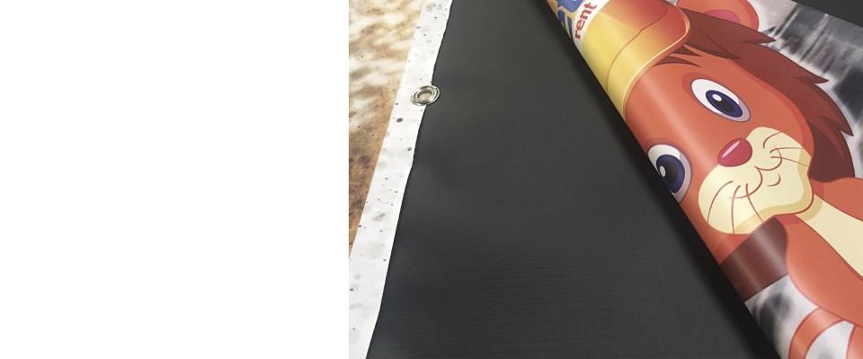 Online Banner 450 gr Retro nero