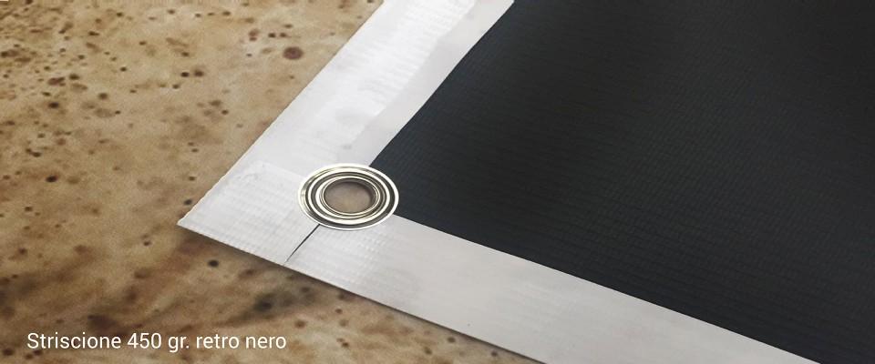 Banner 450 gr Retro nero stampa online