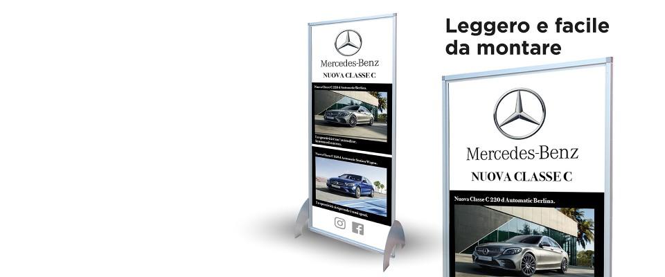 Stampa Totem pubblicitario in alluminio
