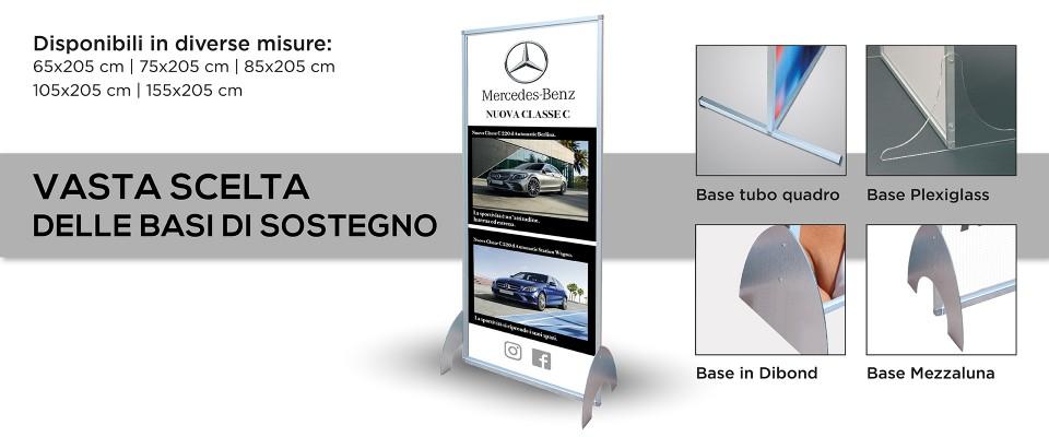 Totem Personalizzato pubblicitario in alluminio