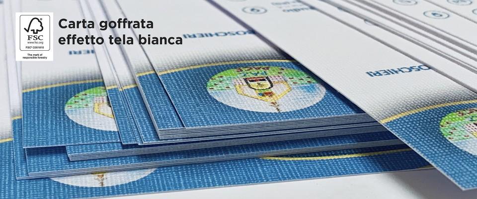 Stampa biglietti da visita carte speciali goffrati effetto tela