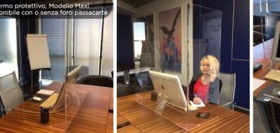 Schermo protettivo maxi in plexiglass