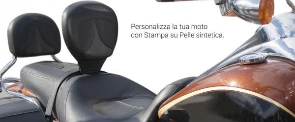 Stampa su pelle per accessori moto